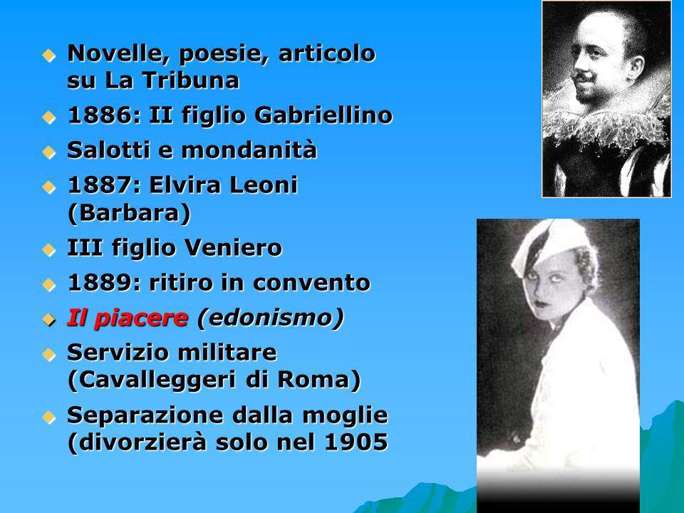 Novelle, poesie, articolo su La Tribuna 1886: II figlio Gabriellino