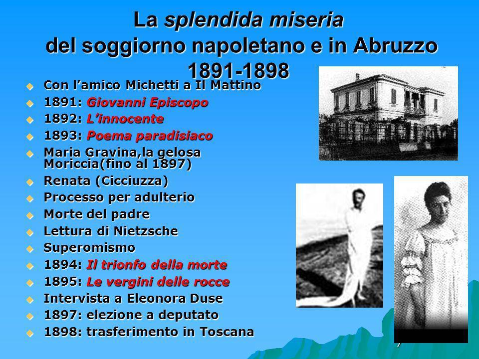 La splendida miseria del soggiorno napoletano e in Abruzzo 1891-1898