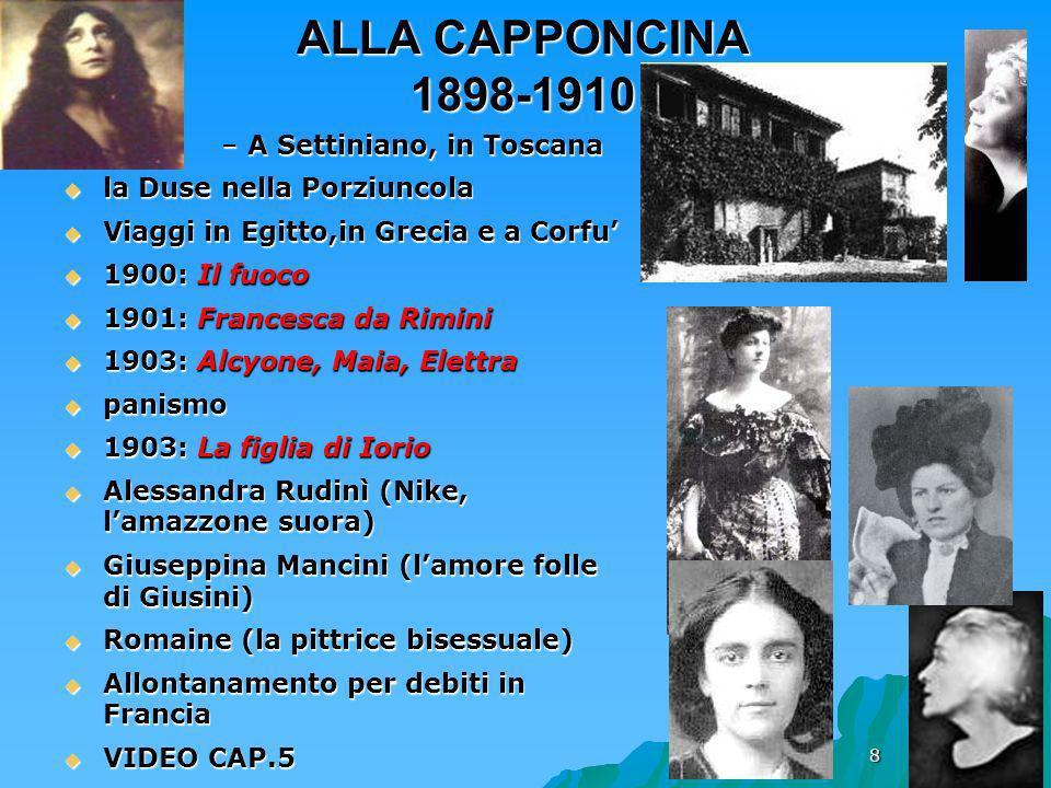 ALLA CAPPONCINA 1898-1910 A Settiniano, in Toscana
