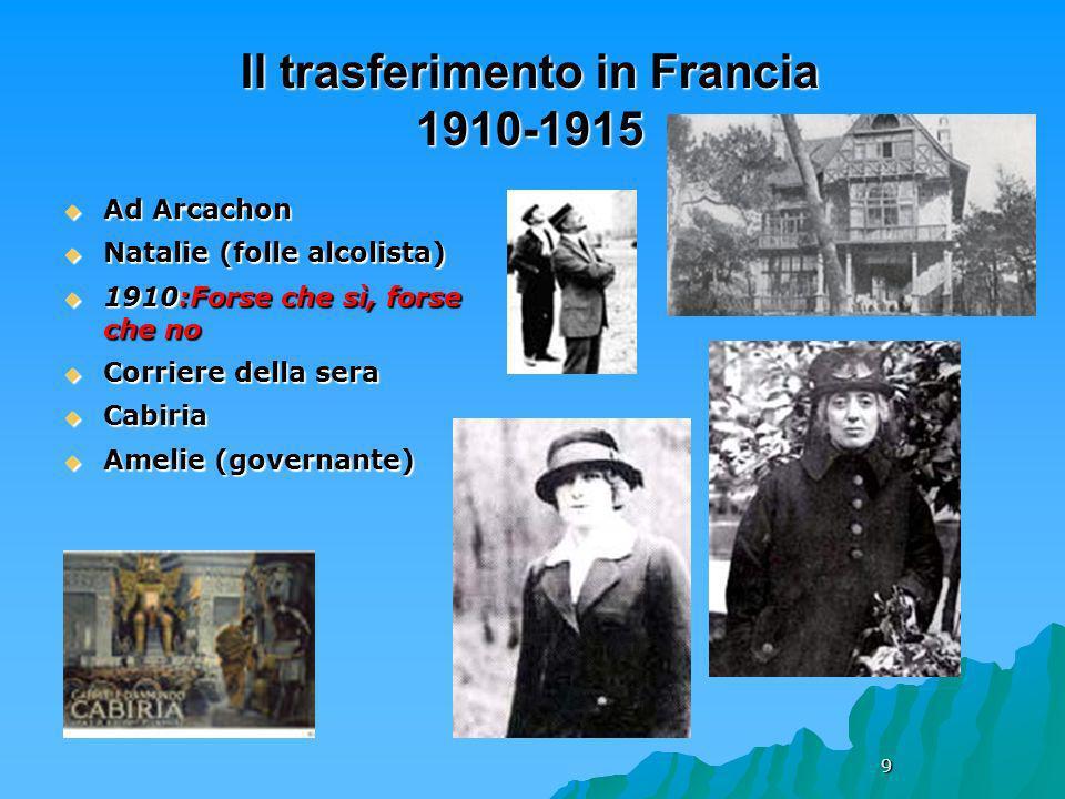 Il trasferimento in Francia 1910-1915