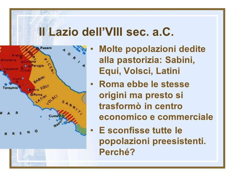 Il Lazio dell'VIII sec. a.C.
