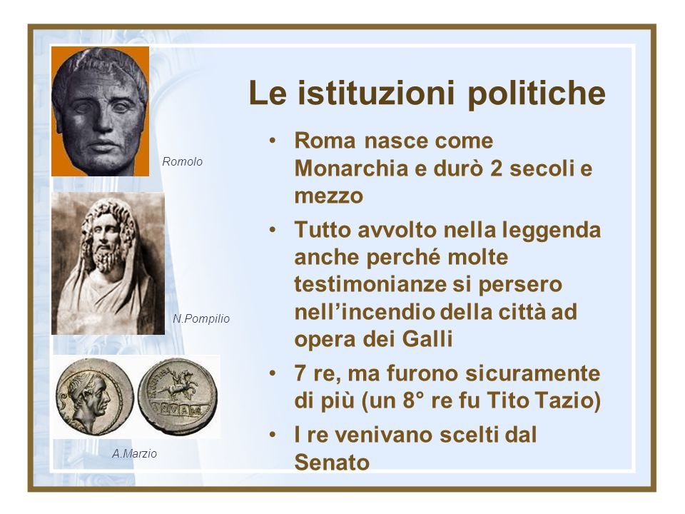 Le istituzioni politiche