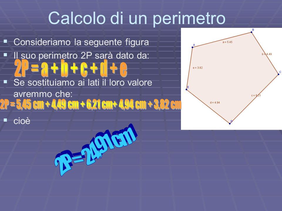 Calcolo di un perimetro