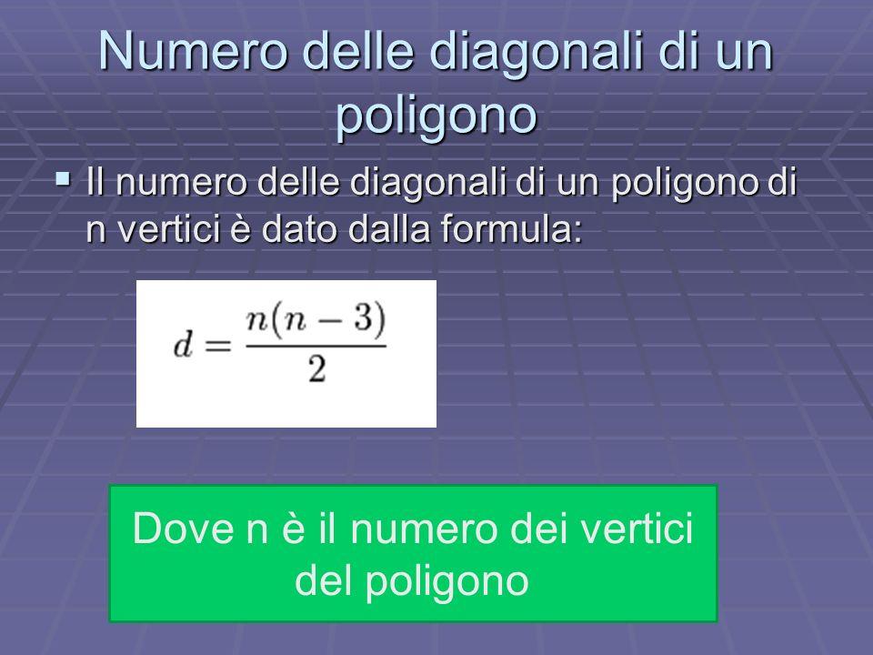 Numero delle diagonali di un poligono