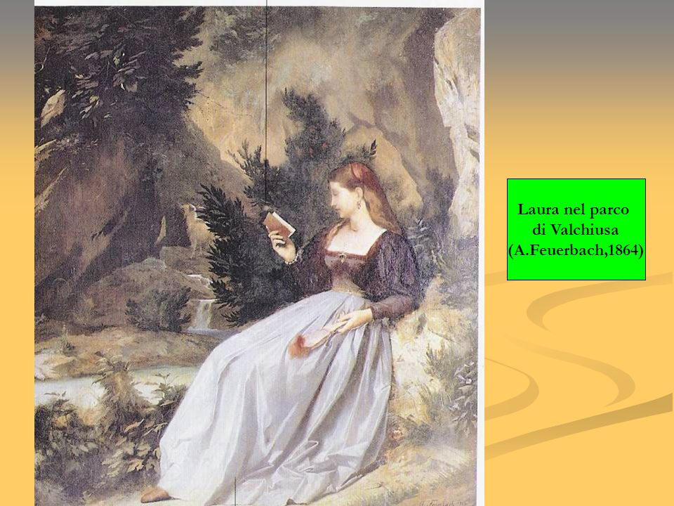 Laura nel parco di Valchiusa (A.Feuerbach,1864)
