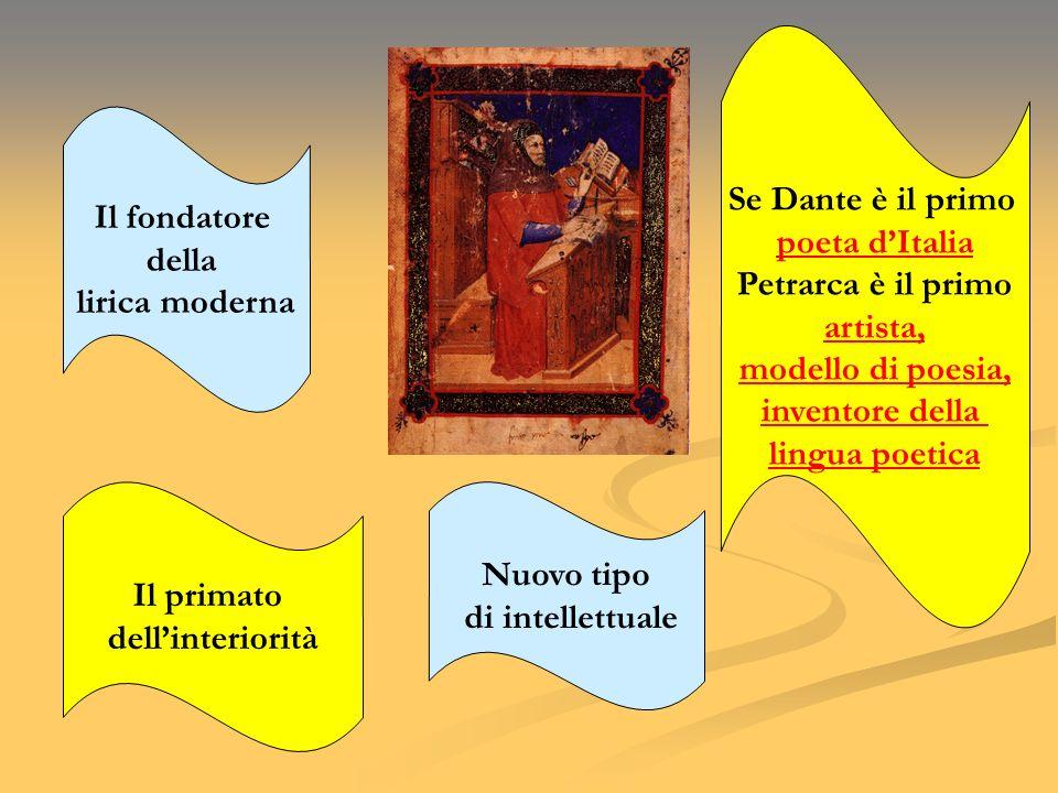 Se Dante è il primo poeta d'Italia. Petrarca è il primo. artista, modello di poesia, inventore della.