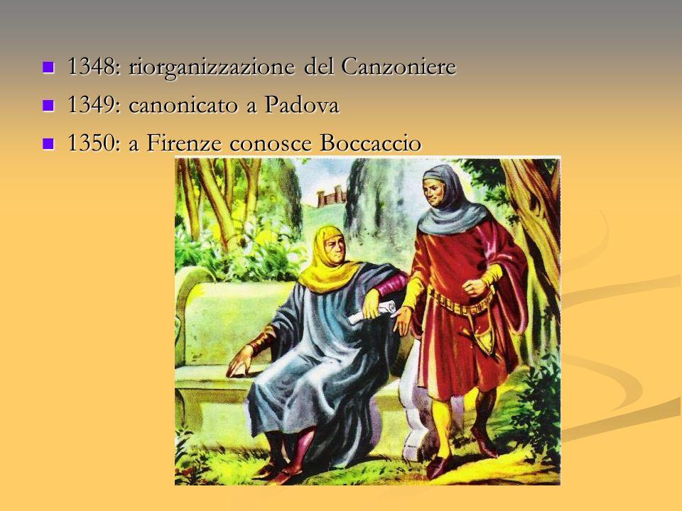 1348: riorganizzazione del Canzoniere