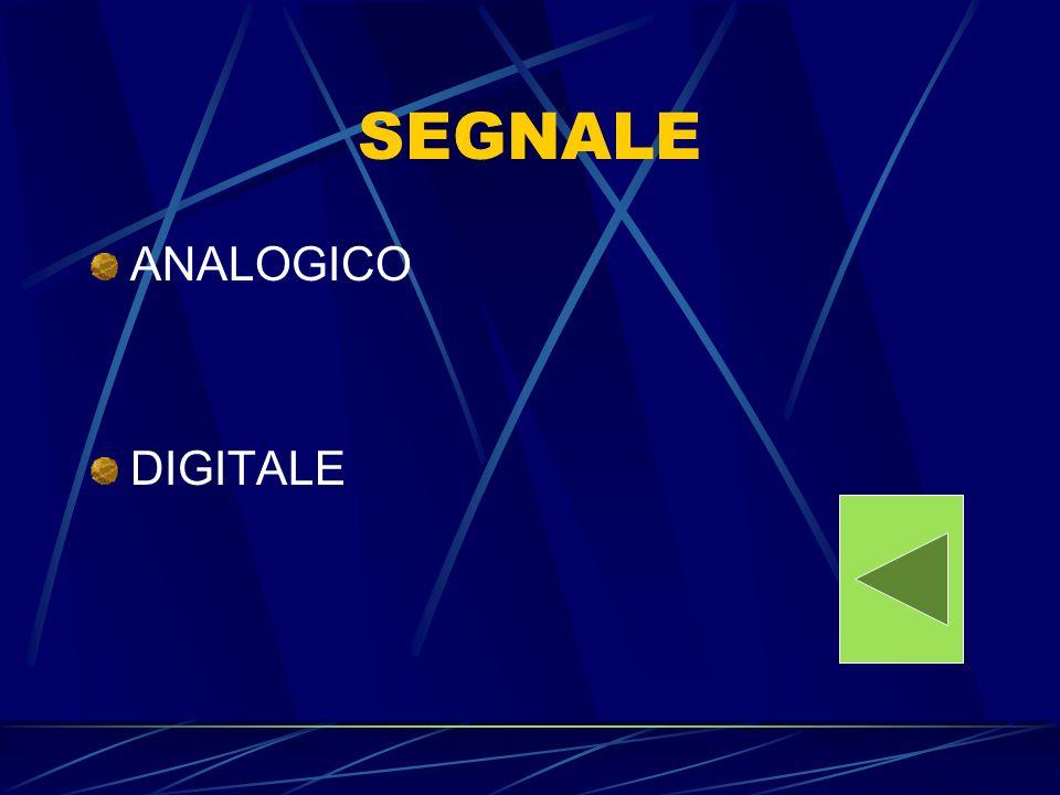 SEGNALE ANALOGICO DIGITALE