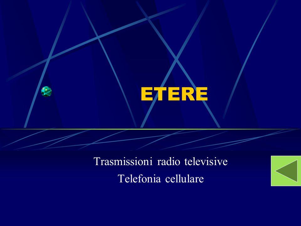 Trasmissioni radio televisive Telefonia cellulare