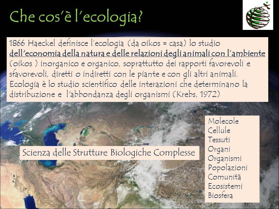 Che cos'è l'ecologia Scienza delle Strutture Biologiche Complesse