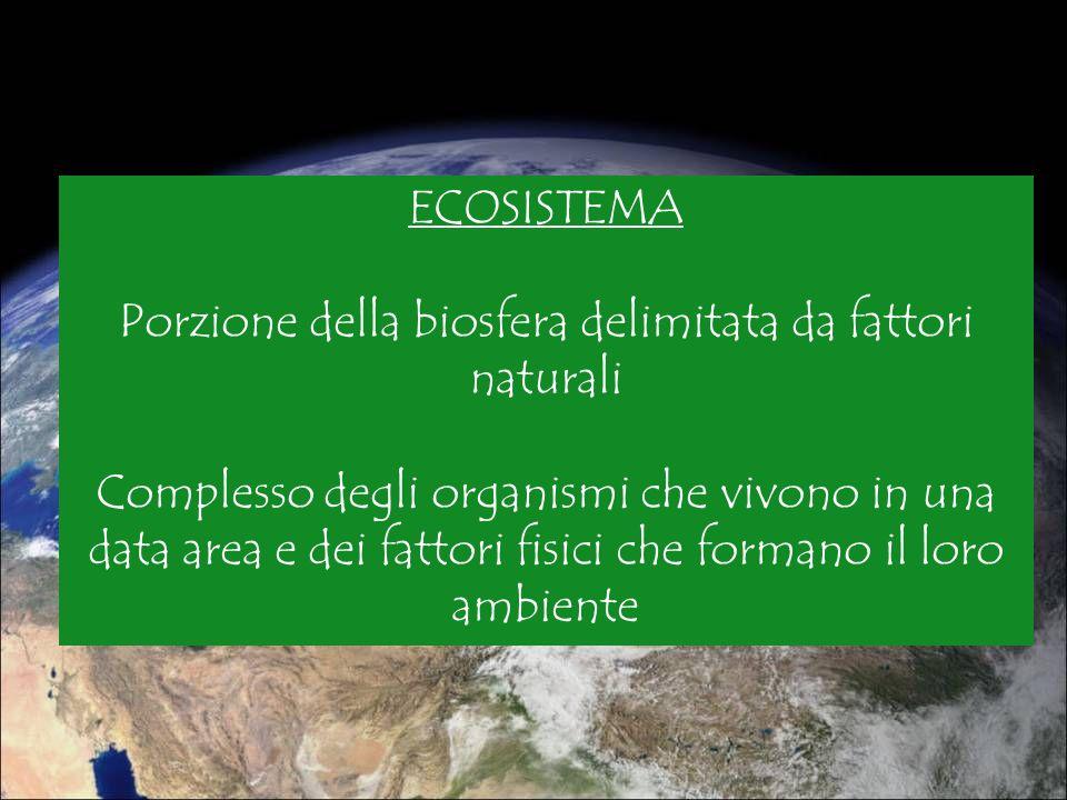 Porzione della biosfera delimitata da fattori naturali