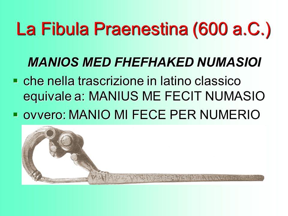 La Fibula Praenestina (600 a.C.)