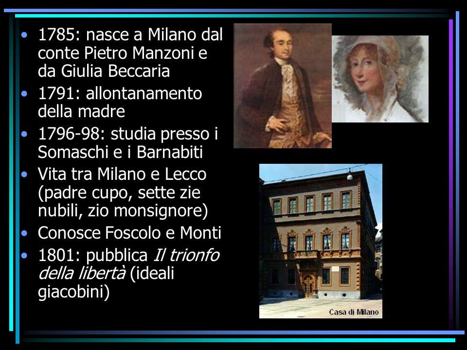 1785: nasce a Milano dal conte Pietro Manzoni e da Giulia Beccaria
