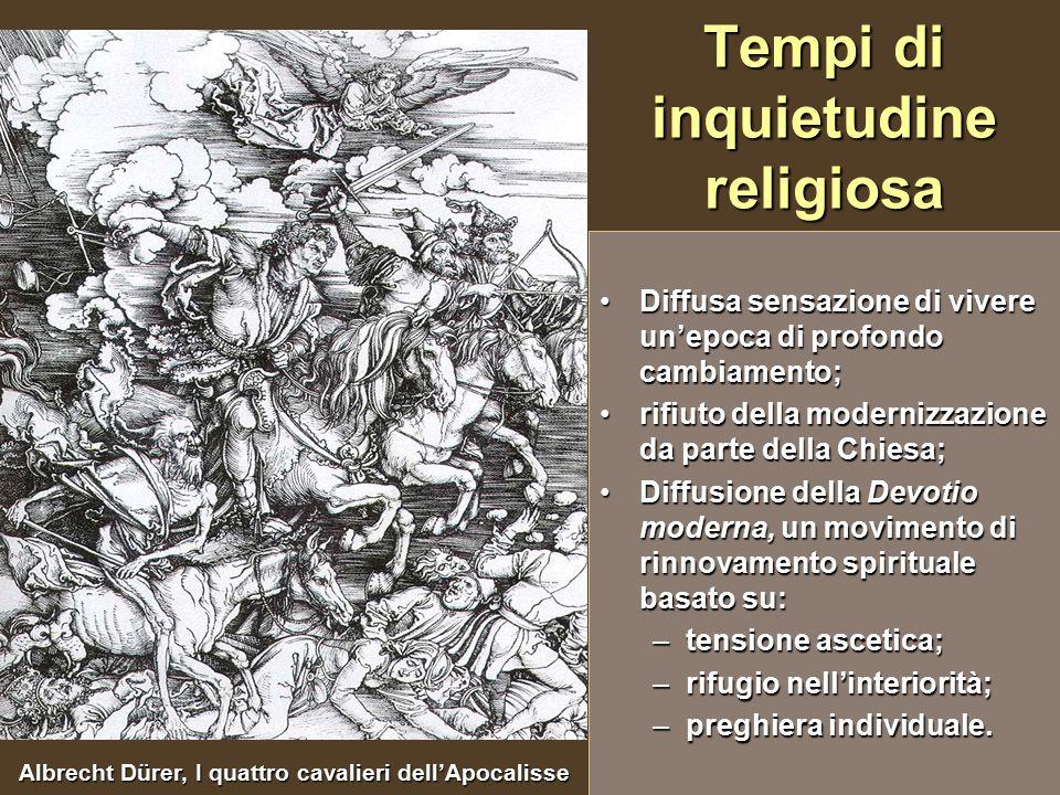 Tempi di inquietudine religiosa