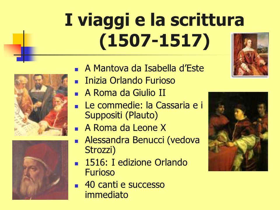 I viaggi e la scrittura (1507-1517)