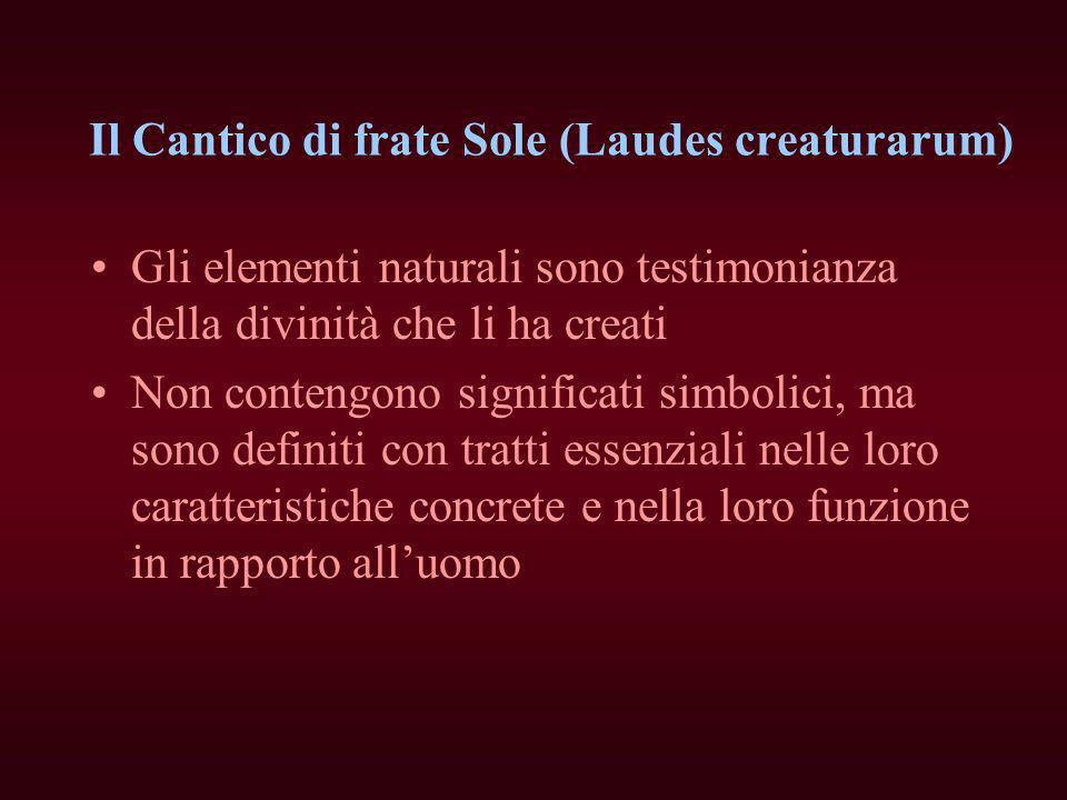 Il Cantico di frate Sole (Laudes creaturarum)