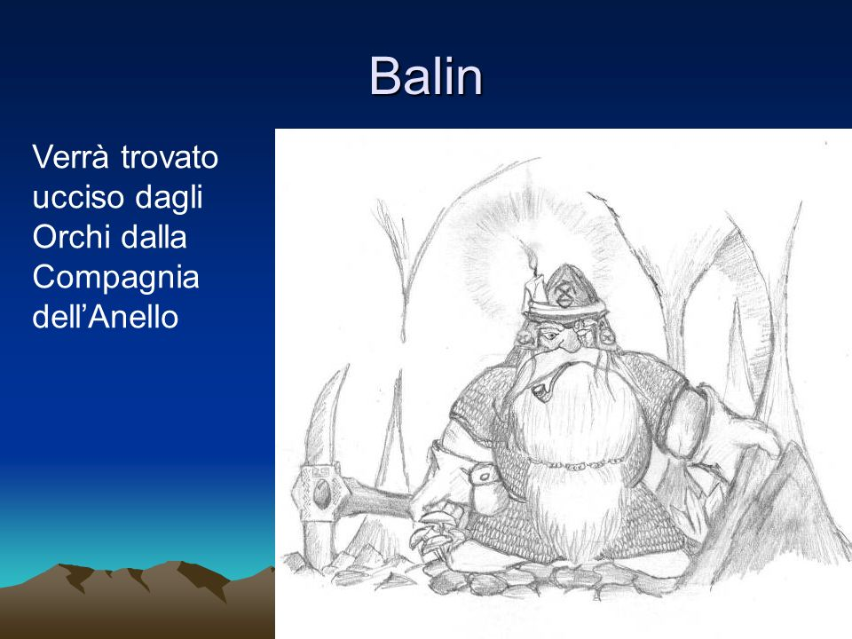Balin Verrà trovato ucciso dagli Orchi dalla Compagnia dell'Anello