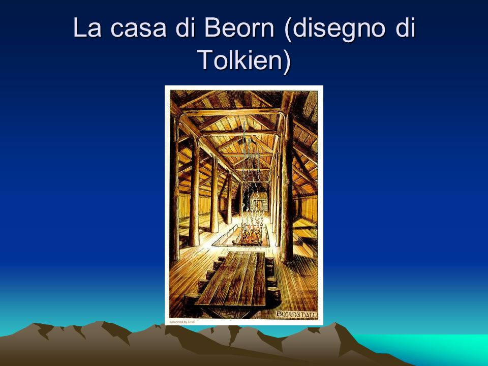 La casa di Beorn (disegno di Tolkien)