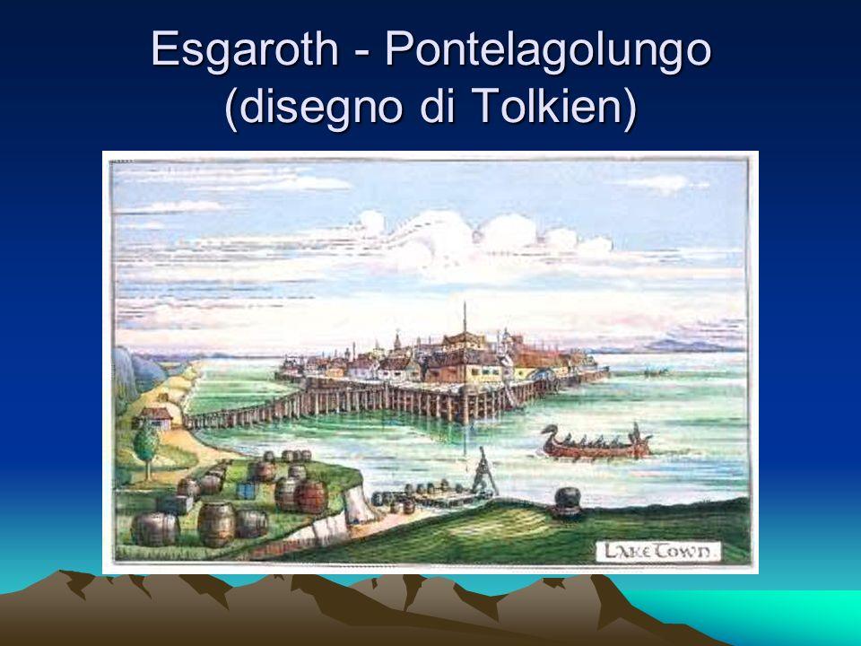 Esgaroth - Pontelagolungo (disegno di Tolkien)