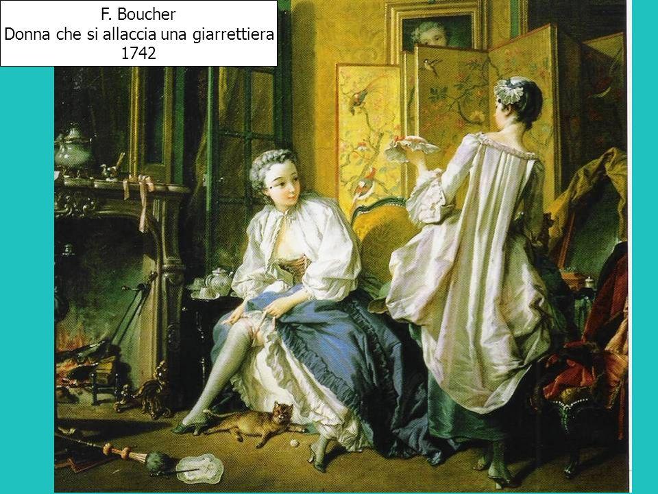 Donna che si allaccia una giarrettiera