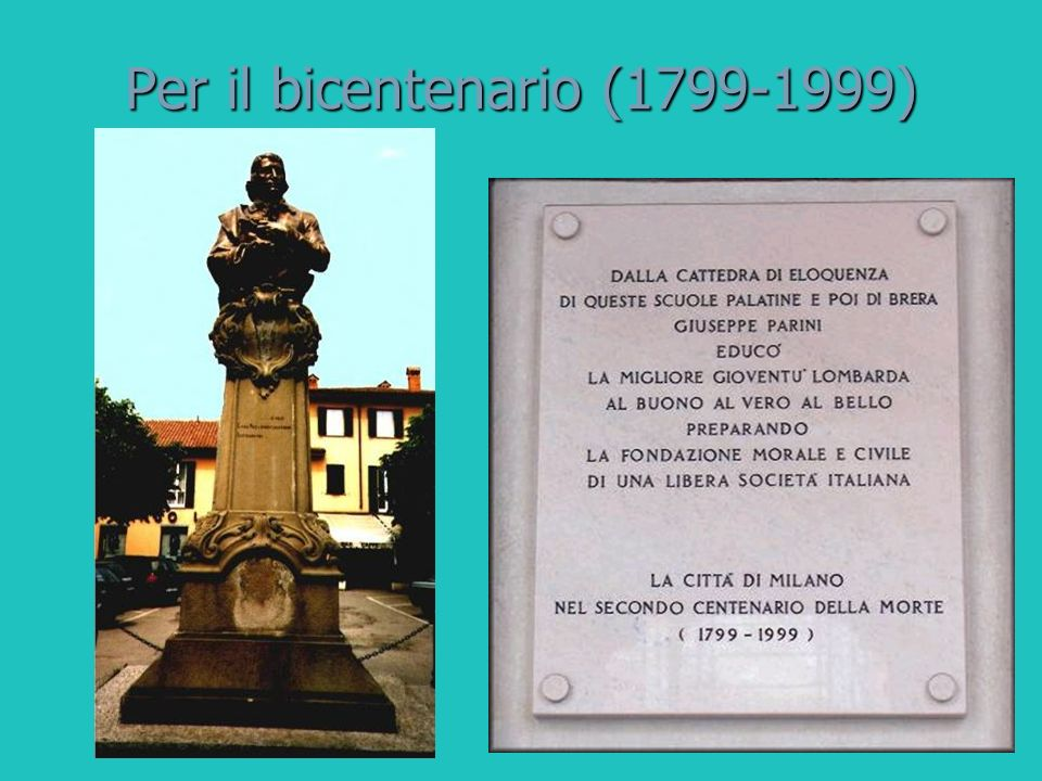 Per il bicentenario (1799-1999)
