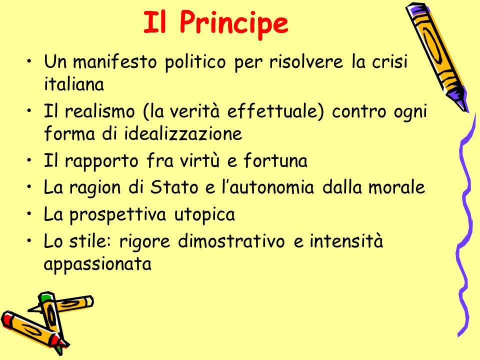 Il Principe Un manifesto politico per risolvere la crisi italiana