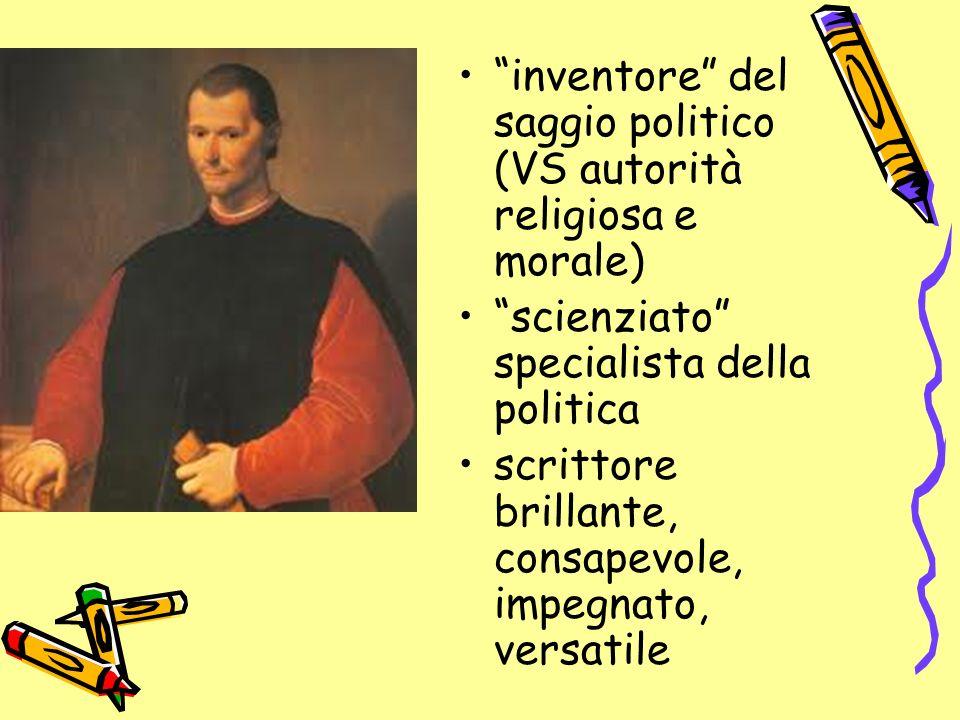 inventore del saggio politico (VS autorità religiosa e morale)