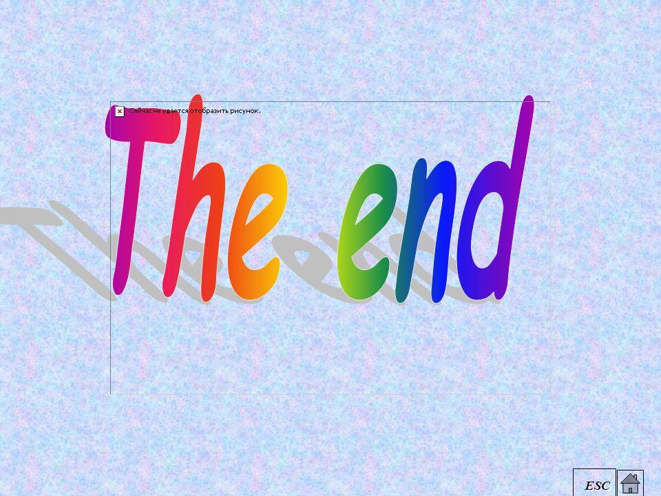 The end ESC