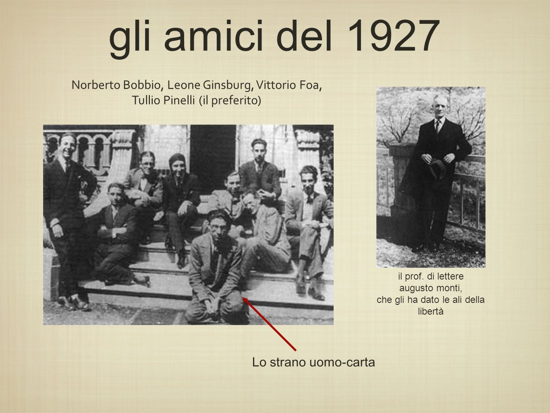 gli amici del 1927 Norberto Bobbio, Leone Ginsburg, Vittorio Foa,