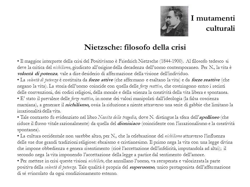 Nietzsche: filosofo della crisi