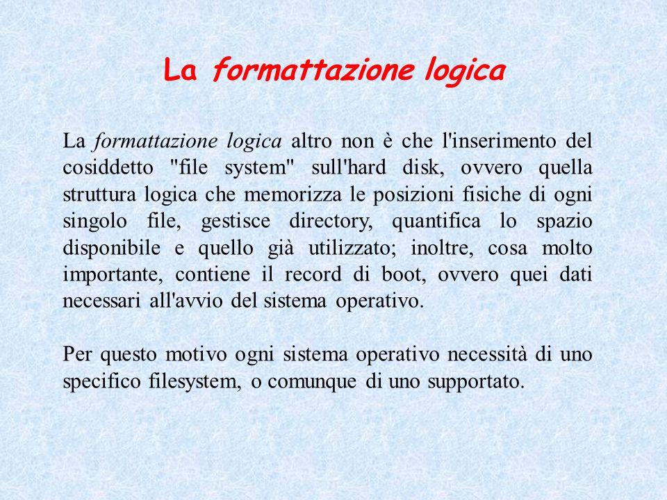 La formattazione logica