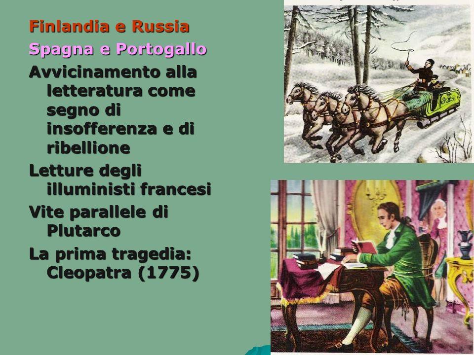 Finlandia e Russia Spagna e Portogallo. Avvicinamento alla letteratura come segno di insofferenza e di ribellione.