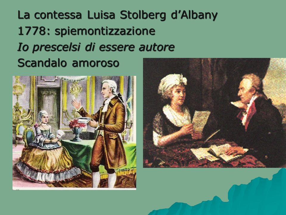 La contessa Luisa Stolberg d'Albany