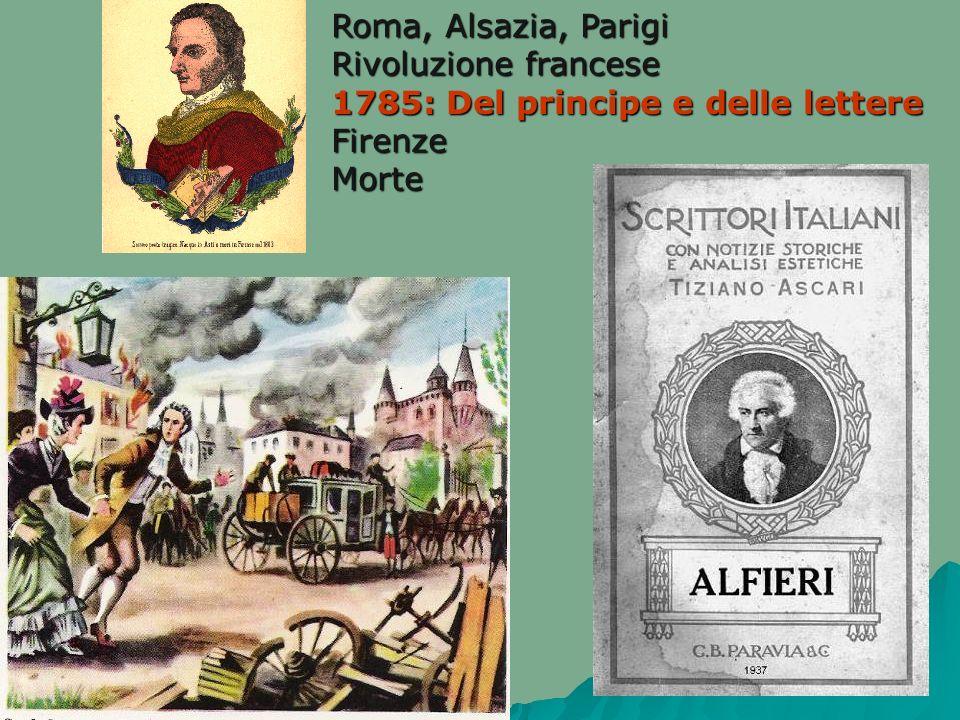 Roma, Alsazia, Parigi Rivoluzione francese 1785: Del principe e delle lettere Firenze Morte