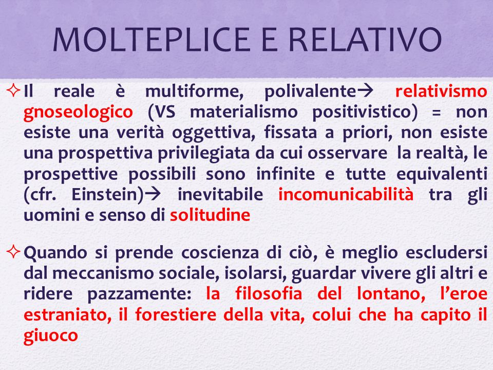 MOLTEPLICE E RELATIVO