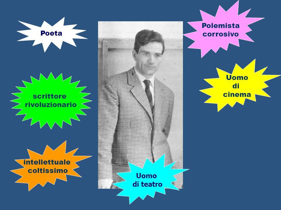 Polemista corrosivo. Poeta. Uomo. di. cinema. scrittore. rivoluzionario. intellettuale. coltissimo.