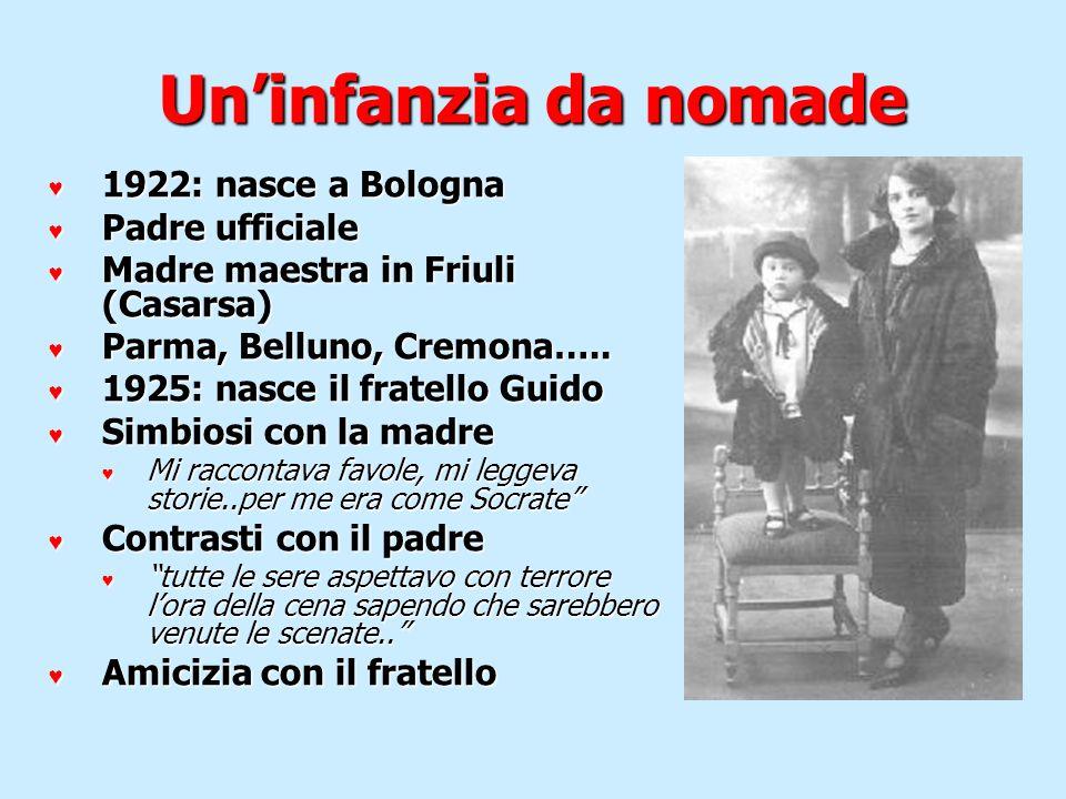 Un'infanzia da nomade 1922: nasce a Bologna Padre ufficiale