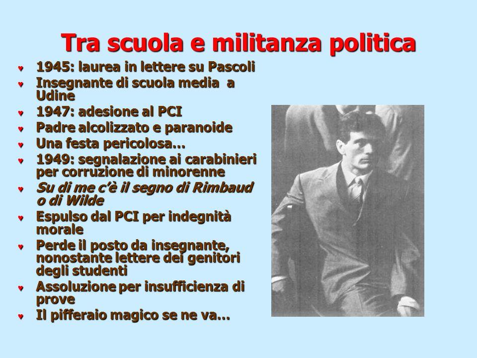 Tra scuola e militanza politica