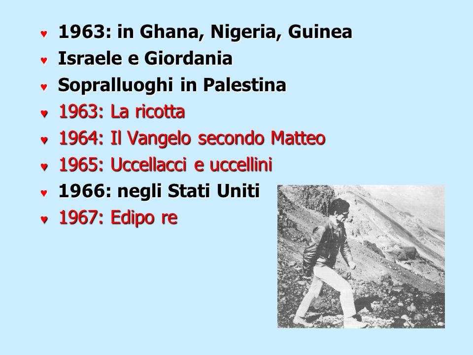 1963: in Ghana, Nigeria, Guinea
