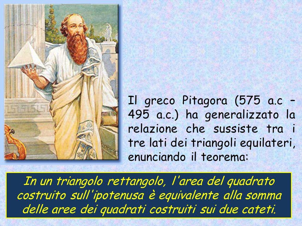 Il greco Pitagora (575 a. c – 495 a. c