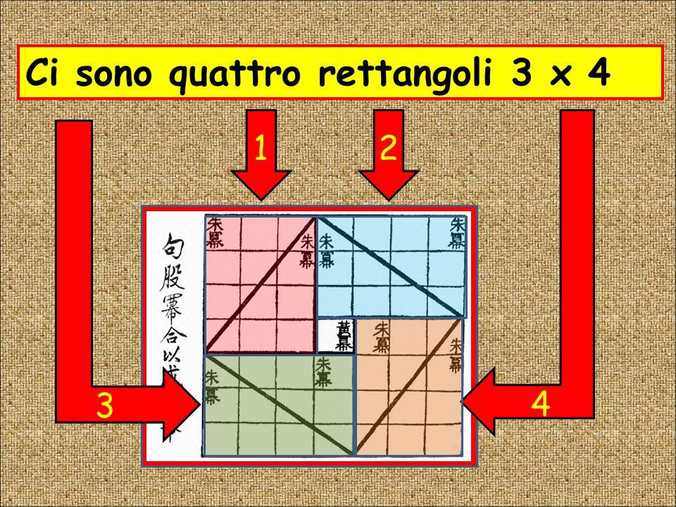 Ci sono quattro rettangoli 3 x 4