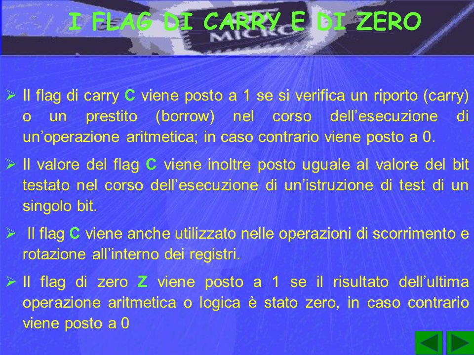 I FLAG DI CARRY E DI ZERO