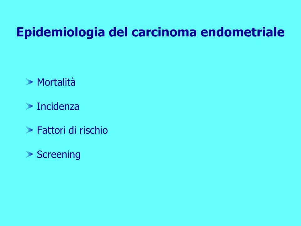 Epidemiologia del carcinoma endometriale