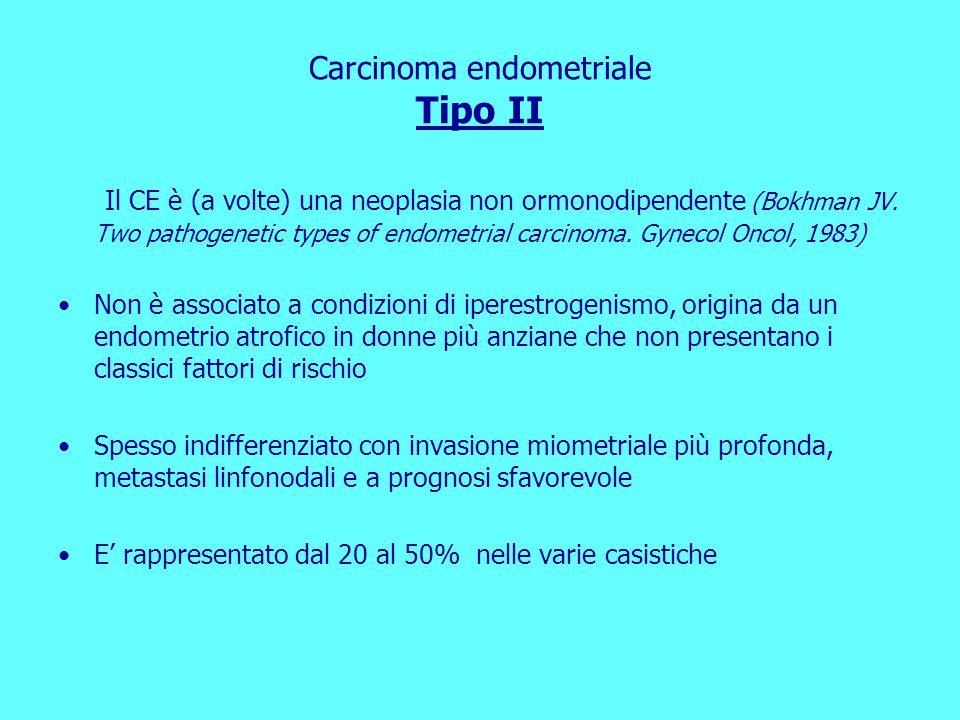 Carcinoma endometriale Tipo II
