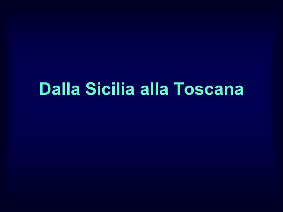 Dalla Sicilia alla Toscana