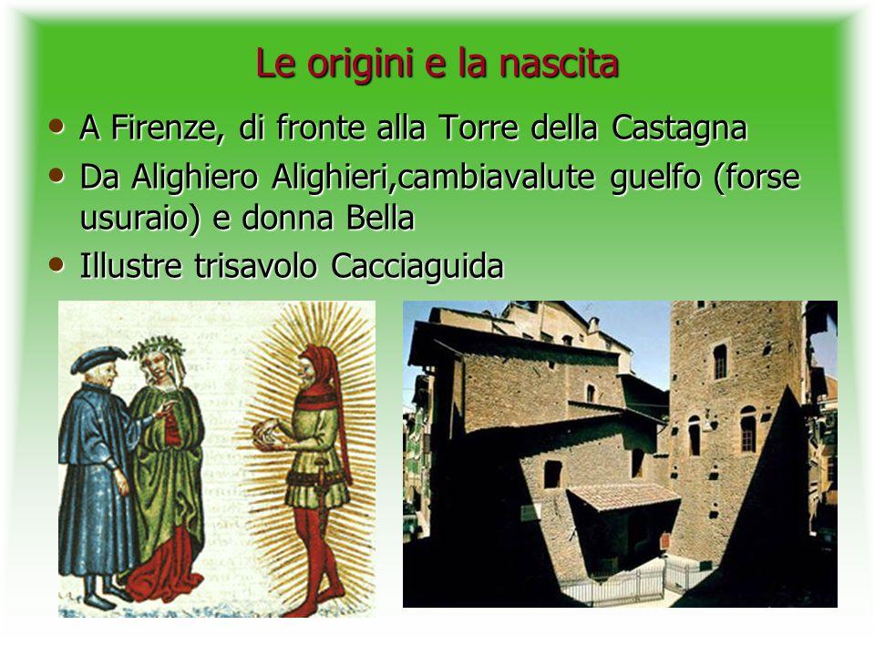 Le origini e la nascita A Firenze, di fronte alla Torre della Castagna