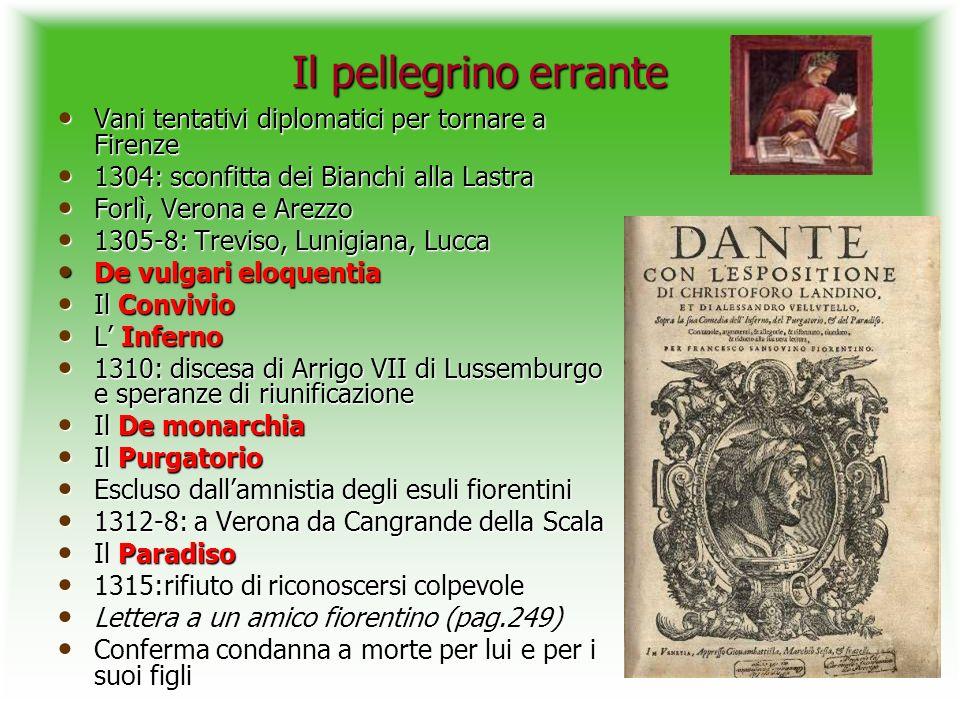 Il pellegrino errante Vani tentativi diplomatici per tornare a Firenze
