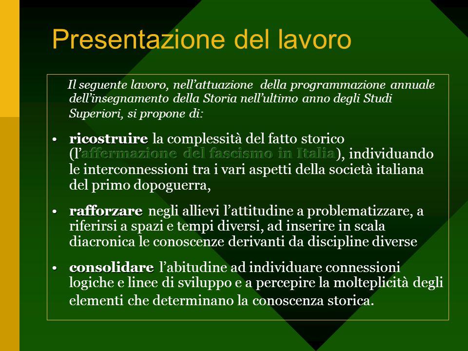 Presentazione del lavoro