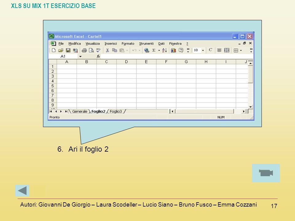 Ari il foglio 2 Autori: Giovanni De Giorgio – Laura Scodeller – Lucio Siano – Bruno Fusco – Emma Cozzani.