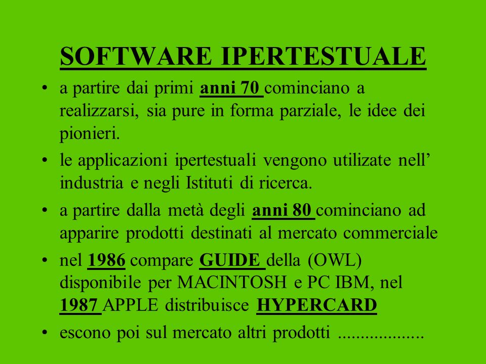 SOFTWARE IPERTESTUALE